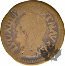 FRANCE-1642 H-LOUIS XIII-Double Tournois de Warin-TB