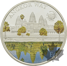 PALAU-2010-5 DOLLARS-ANGKOR WAT-PROOF