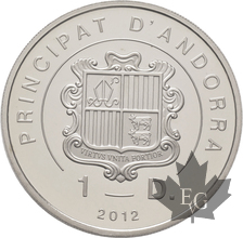 ANDORRE-2012-1 DINARO-PROOF