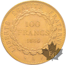 FRANCE-1886 A-100 FRANCS-III ème REPUBLIQUE-PCGS MS64