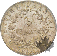 FRANCE-1815A-5 FRANCS-CENT JOUR-PCGS MS62