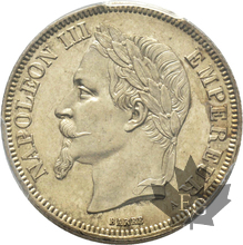 FRANCE-1870A-2 FRANCS-NAPOLEON III-PCGS MS63