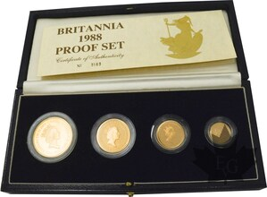 ROYAUME-UNI-1988-ELISABETH-COFFRET-OR-PROOFSET
