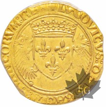 FRANCE-Écu d'or au porc-épic-Louis XII (1498-1515)-PCGS MS62