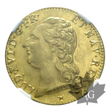 FRANCE-1786 W-Louis XVI-LOUIS D'OR TÊTE NUE-NGC MS62