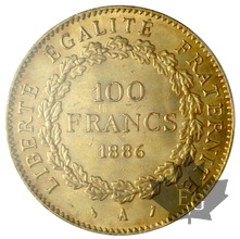 FRANCE-1886 A-100 FRANCS-III ème REPUBLIQUE-PCGS MS63