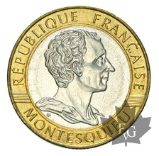 FRANCE-1989-10 FRANCS-Montesquieu-ESSAI-FDC