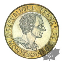 FRANCE-1989-10 FRANCS-Montesquieu-BU-FDC