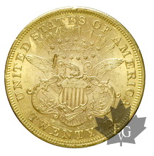 USA-1873 S-20 DOLLARS-Coronet Head-Open 3-Superbe