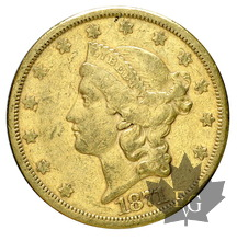 USA-1871-20 Dollars-Coronet Head-TTB
