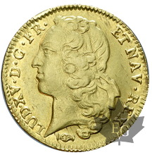 FRANCE-1771 K-Double Louis d'or au Bandeau-TTB-SUP