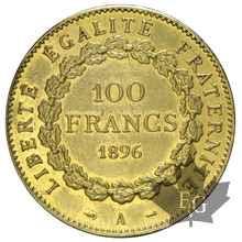 FRANCE-1896-100 FRANCS-III RÉPUBLIQUE-TTB