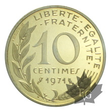 FRANCE-1971-10 CENTIMES PIEFORT-FDC
