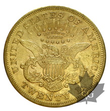 USA-1870S-20 Dollars San Francisco-TTB+