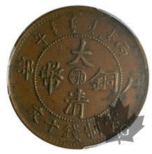 CHINA-1906-10 CASH-Hupeh-PCGS XF45