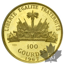 HAITI-1967-100 Gourdes-or-proof
