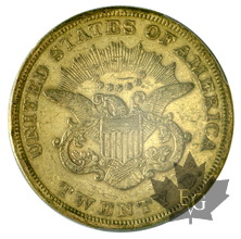 USA-1852-20 DOLLARS-LIBERTY HEAD-OCGS XF45