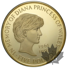 GRANDE BRETAGNE-1999-5 POUNDS-DIANA-PROOF