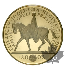 GRANDE BRETAGNE-2002-5 POUNDS-GOLDEN JUBILEE 1952-2002-PROOF