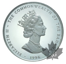 BAHAMAS-1996-1 DOLLAR-Elizabeth II-PROOF