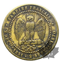 FRANCE-module cinq centimes SEDAN-Napoléon III le misérable-TTB