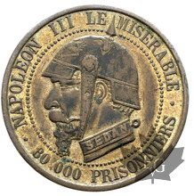 FRANCE-module cinq centimes SEDAN-Napoléon III le misérable-SUP