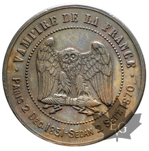 FRANCE-1870-module de 10 centimes-Monnaie satirique-SUP+