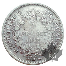 FRANCE-1849 BB-5 FRANCS II RÉPUBLIQUE-TB