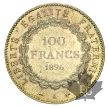 FRANCE-1896-100 FRANCS-III RÉPUBLIQUE-PCGS MS61