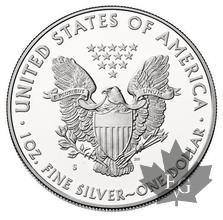 USA-1987-1 DOLLAR-1 OZ FINE SILVER-PROOF