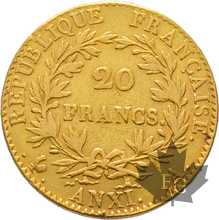 FRANCE-AN XI A-20 FRANCS-PARIS-1er Consul-prTTB