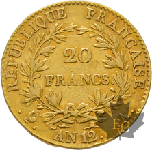 FRANCE-AN 12 A-20 FRANCS-PARIS-1er Consul-TTB-SUP