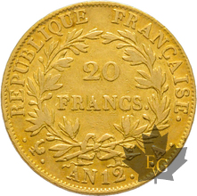 FRANCE-AN 12A-20 FRANCS-PARIS-Napoleon Empereur-TB-TTB