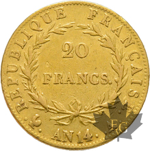 FRANCE-AN 14A-20 FRANCS-PARIS-Napoleon 1er-TTB+