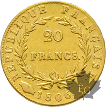 FRANCE-1806I-20 FRANCS-LIMOGES-Napoleon 1er-TTB+