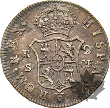 ESPAGNE-1773-2 Reales-Seville-CARLOS III-SUP