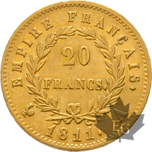 FRANCE-1811A-20 FRANCS-PARIS-Napoleon 1er-SUP+