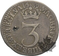 GRANDE BRETAGNE-1689-3 PENCE-WILLIAM et MARY-TB-TTB