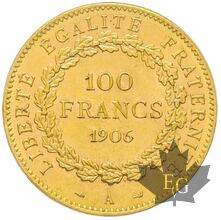 FRANCE-1906A-100 FRANCS-III RÉPUBLIQUE-PCGS MS63
