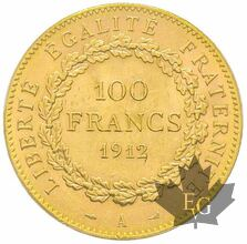 FRANCE-1912-100 FRANCS-IIIème République-PCGS MS63