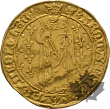 FRANCE-Royal d'or-Charles VII 1422-1461-TB-pliée