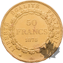 FRANCE-1878-50 FRANCS-III RÉPUBLIQUE-PARIS-TTB-SUP
