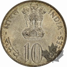 INDE-1972 B- 10 RUPEES-INDEPENDENCE ANNIVERSARY-NGC MS63