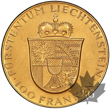 LIECHTENSTEIN-1952-100 FRANCS-PCGS MS63