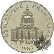 FRANCE-1983-100 FRANCS-PIEFORT ARGENT-PCGS SP65