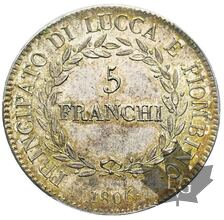 ITALIE-LUCCA-1806-5 FRANCHI-PCGS MS62