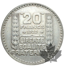 FRANCE-1929-20FRANCS TURIN-SUP