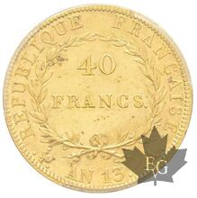 FRANCE-AN13A-40 FRANCS-NAPOLEON EMPEREUR-PCSG MS61