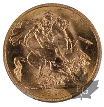 AFRIQUE DU SUD-1925 SA-SOVEREIGN-George V-PCGS MS65