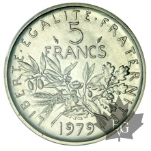 FRANCE-1979-5 FRANCS SEMEUSE-NICKEL-PCGS SP68